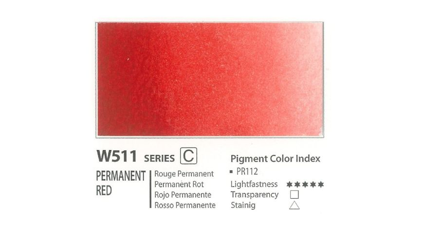 Mission Gold Professional Grade Extra-Fine Watercolour  - 15 ML - Permanent Red