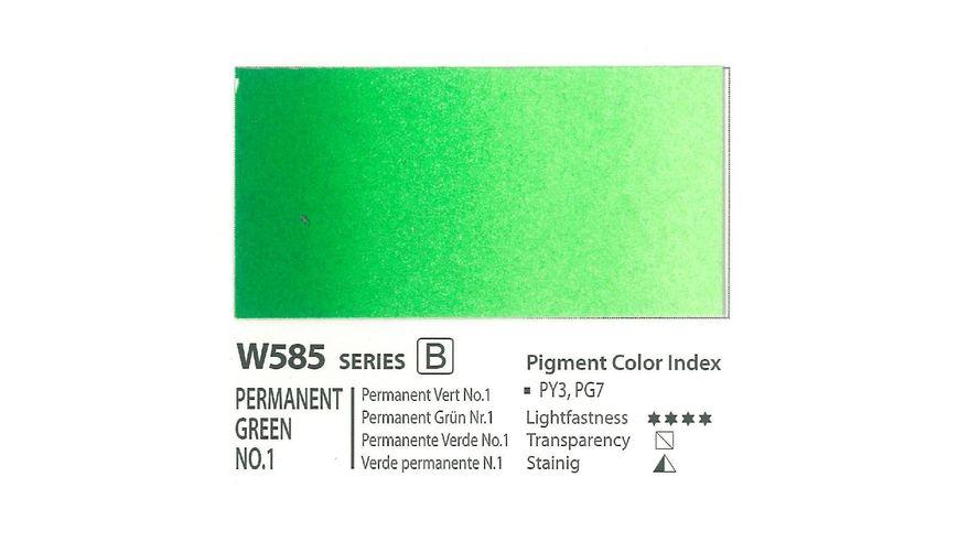 Mission Gold Professional Grade Extra-Fine Watercolour  - 15 ML - Permanent Green No.1