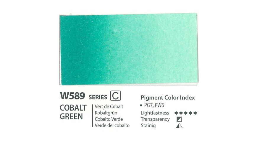 Mission Gold Professional Grade Extra-Fine Watercolour  - 15 ML - Cobalt Green