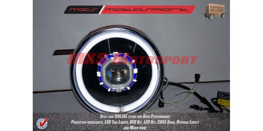 MXSHL131 Royal Enfield Bullet Classic 350 & 500 Headlight Bi Xenon HID Projector, DRL's