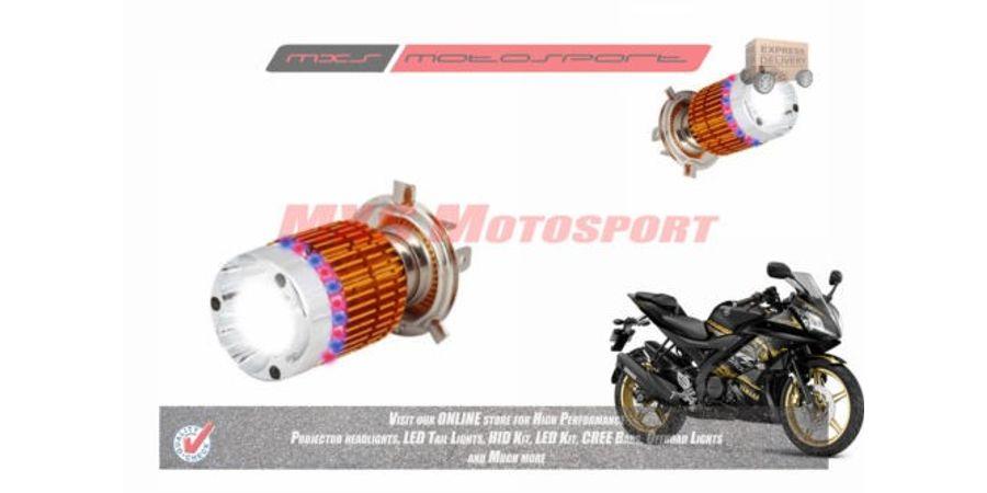 MXS2185 White 3CREE LED HID Type Headlamp Bulb For Yamaha YZF R15 V2 Pair