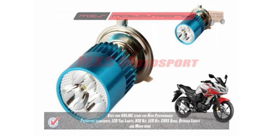 MXS2192 White 3CREE LED HID Type Headlamp Bulb For Yamaha YZF R15 V2 Pair