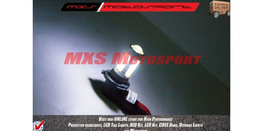 MXS2189 White 9006 LED fog lamps HID Type Headlamp Bulb For Cars (Pair)