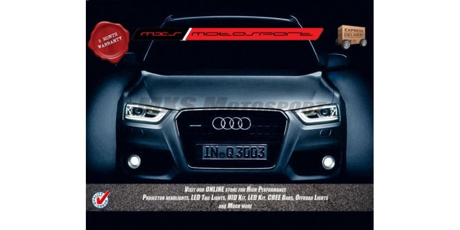 MXS Motosport Audi Q3 Fog Lamp HID KIT with 6 Months* Warranty