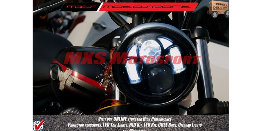 MXSHL138 LED Monster Headlight for Bajaj Avenger Motorcycle