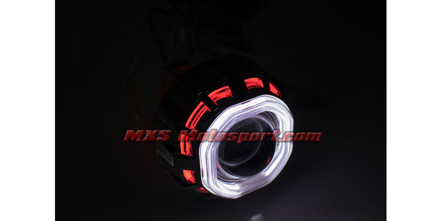 MXS2403 Motorcycle HID BI-XENON Projector blaster Robotic Square Angel Eye