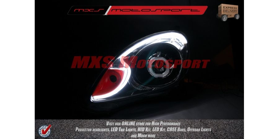 MXS1953 Audi-Style White-Amber DRL Daytime Running Light for Honda Mobilio
