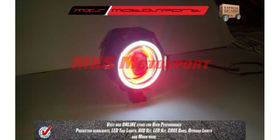 MXS1921 Cree Angle Eye Transformer LED Projector Flasher Fog Lamp Devil Eye Motorcycle