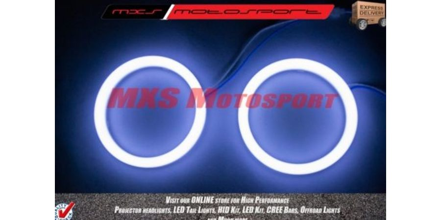 MXS1940 White 2x2.5 inch Car Bike motorcycle COB Led Angel Eyes Halo Ring Light 12V