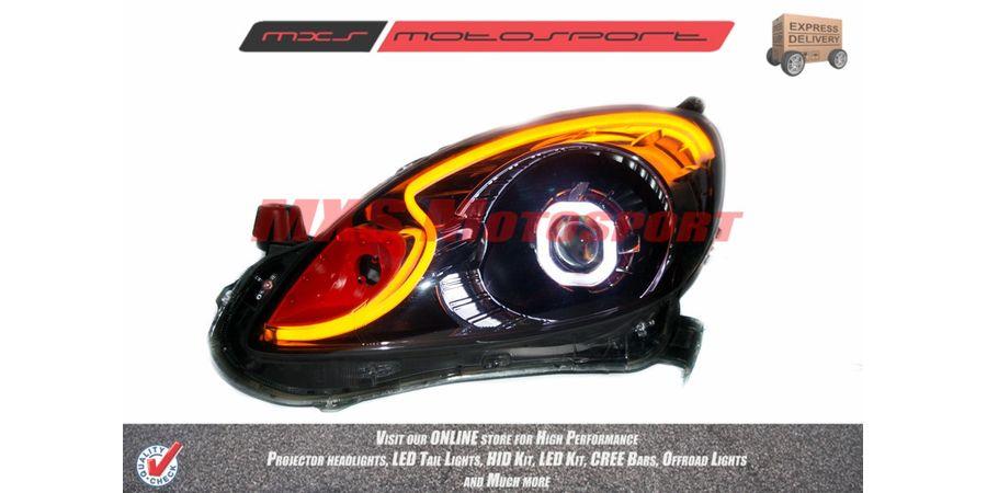 MXSHL22 Motosport Square Projector Headlight With DRL System Honda Mobilio