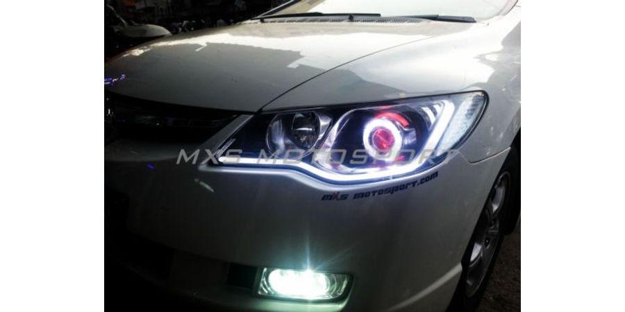 MXS1894 Audi-Style White-Amber DRL Daytime Running Light for Honda Civic
