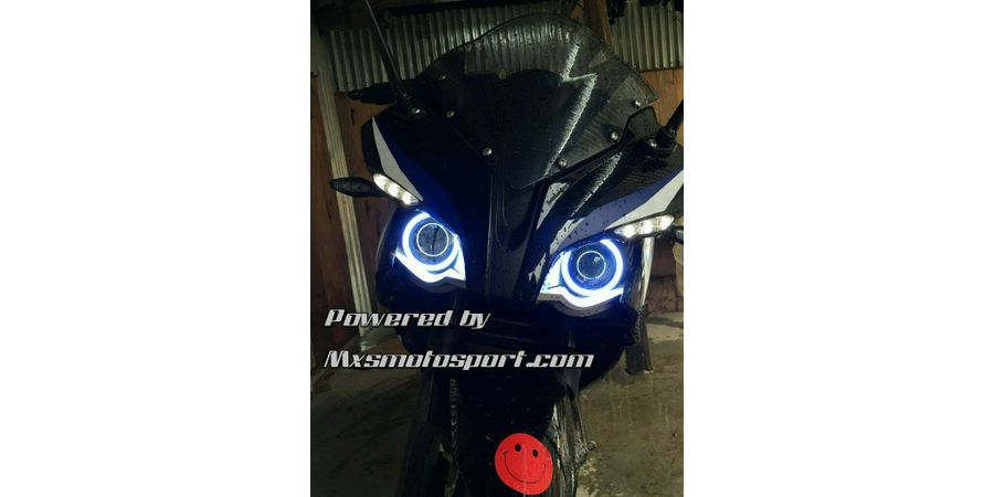 MXS2201 Angel Eyes COB LED Halo Ring Pulsar rs 200 Bike Motorcycle