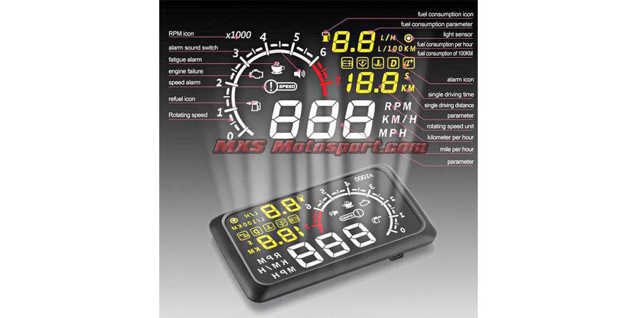 MXS2456 Bluetooth Gauge Display OBDII MPH KM/h Speeding Warning System