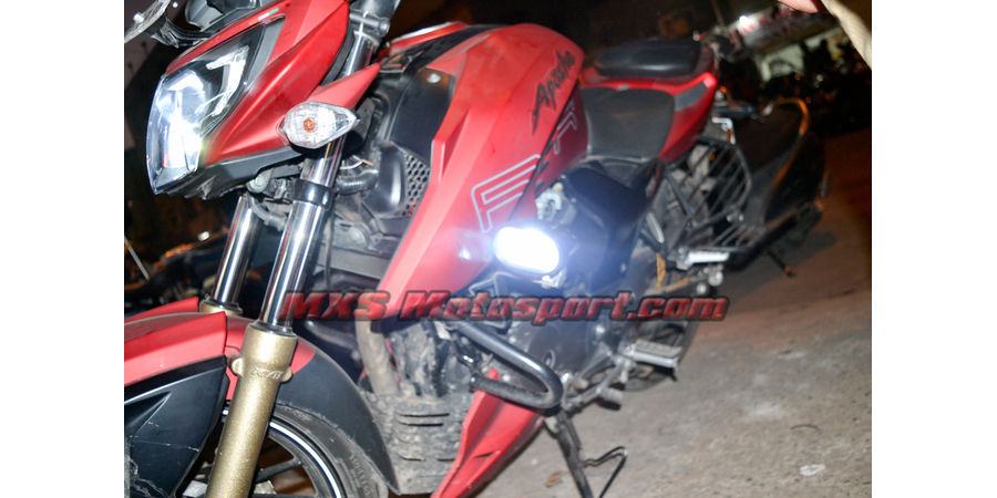 MXSORL129 Cree Led 4D Off Road Lights TVS Apache RTR 200