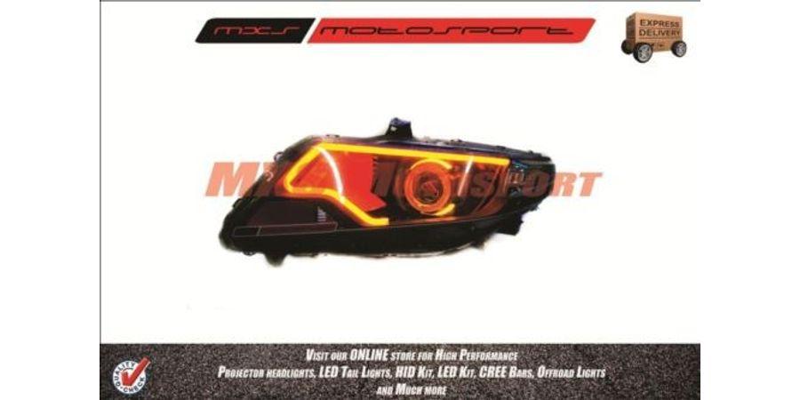 MXSHL58 Motosport Shark Eye Projector Headlight Honda City I-Vtec