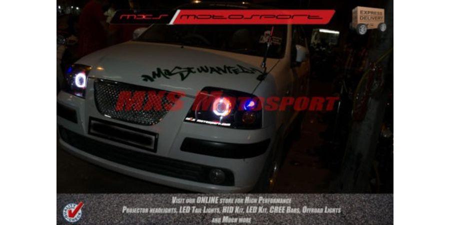 MXSHL49 Motosport Robitic Eye Projector Headlight For Hyundai Santro Xing