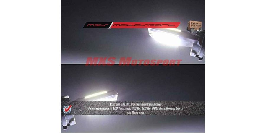 Tech Hardy T10 COB LED Lamps White CANBUS Parking Bulbs For TVS Star City Plus