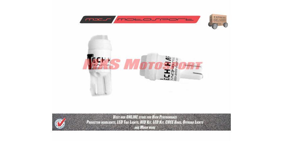 Tech Hardy T10 Ceramic Coated Cree Led Projector Long Range Parking Red For Bajaj Pulsar 150