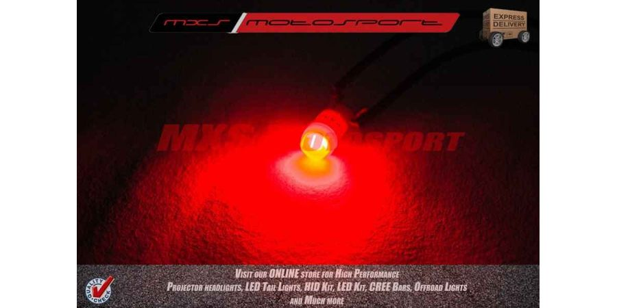 Tech Hardy T10 Ceramic Coated Cree Led Projector Long Range Parking Red For TVS Apache RTR 160
