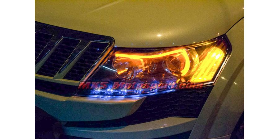 MXS1886 Audi-Style White-Amber DRL Daytime Running Light For Mahindra XUV 500