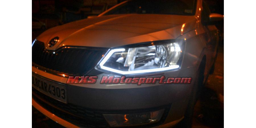 MXS1898 Audi-Style White-Amber DRL Daytime Running Light for Skoda Rapid