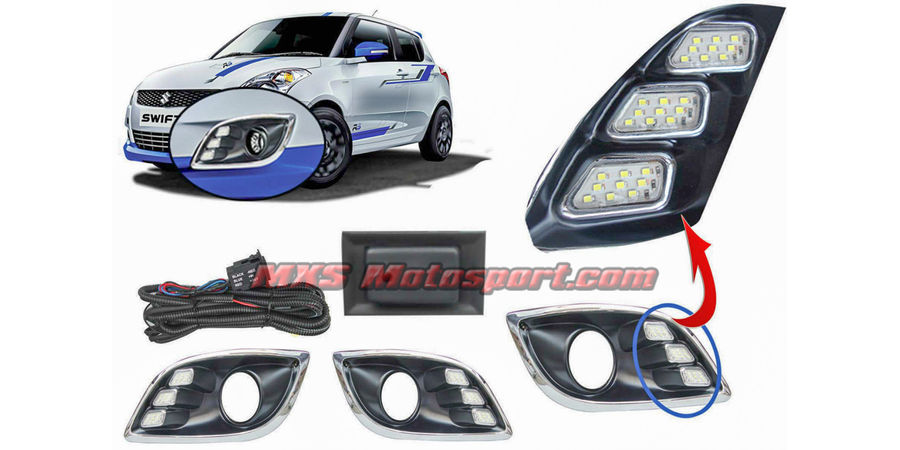 MXS1925 LED Fog Lamps Day Time running Light for Maruti Suzuki Swift