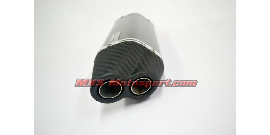 MXS2405 Tech Hardy Dual Carbon Tip Stage 2 Racing Exhaust Silencer Motorcycle