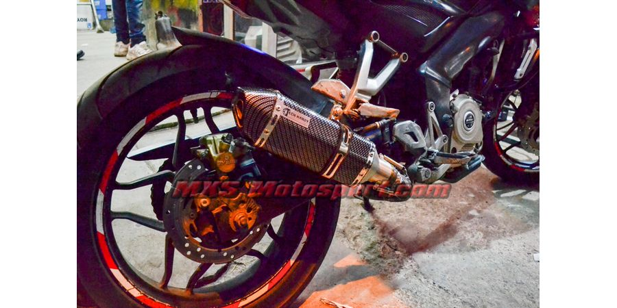 MXS2458 Tech hardy Carbon Stage 1 Exhaust Muffler Silencer Bajaj Pulsar NS 200