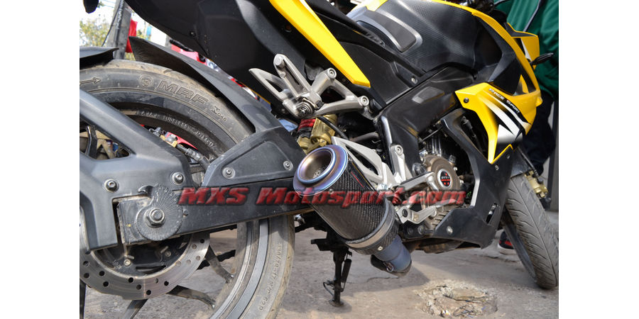 MXS2469 Tech Hardy Titanium Carbon Stage - 1 Racing Exhaust Muffler Silencer Bajaj Pulsar RS 200