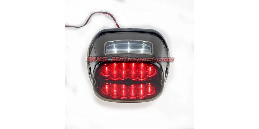MXS2472 Red Led Brake Running Tail Light For Harley