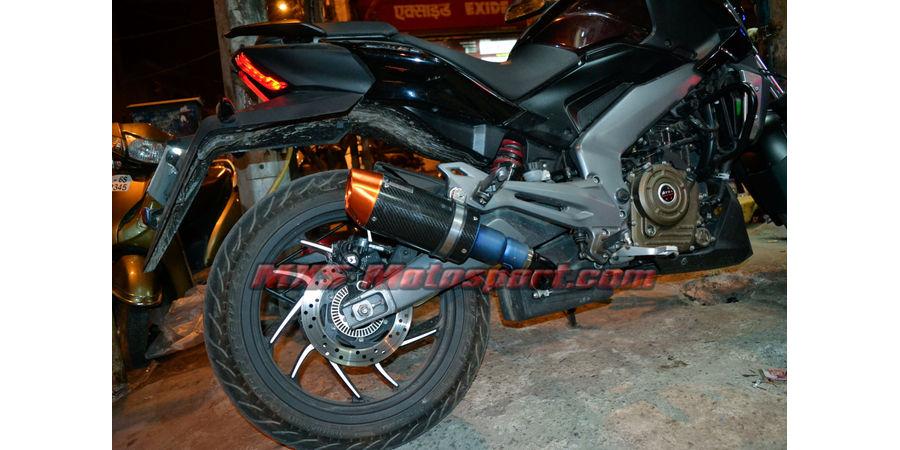 MXS2473 Tech Hardy Titanium Carbon Stage - 1 Racing Exhaust Muffler Silencer Bajaj Dominar 400