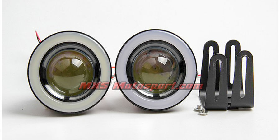 MXS2479 Super Bright Projector LED Fog Light DRL COB Halo Angel Eye Car and SUV