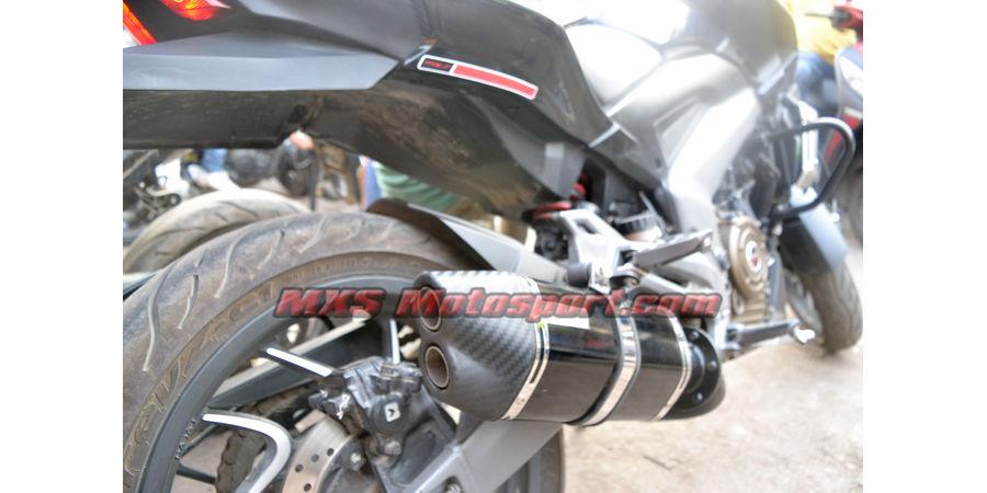 MXS2511 Tech Hardy Dual Carbon Tip Stage 2 Racing Exhaust Silencer Bajaj Dominar 400