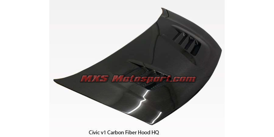 MXS2534 Honda Civic V1 Carbon Fiber Bonnet Hood HQ