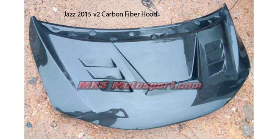 MXS2537 Honda Jazz 2015 V2 Carbon Fiber Bonnet Hood