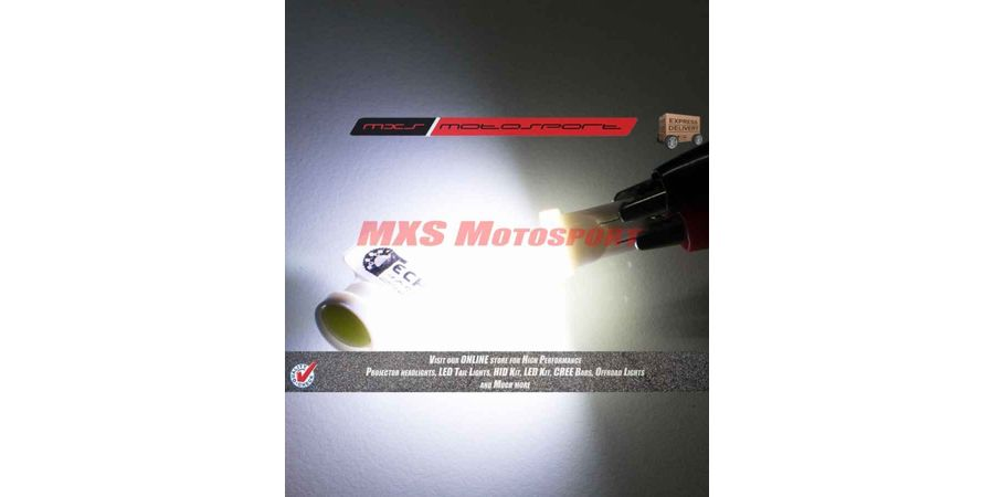 Tech Hardy T10 Convex Curvature LED Projector Long Range Parking Bulbs For Piaggio Vespa VX