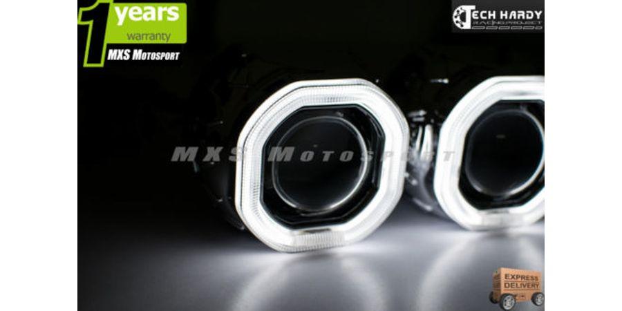 Tata Safari Headlight HID BI-XENON HALO Ring Square Projector