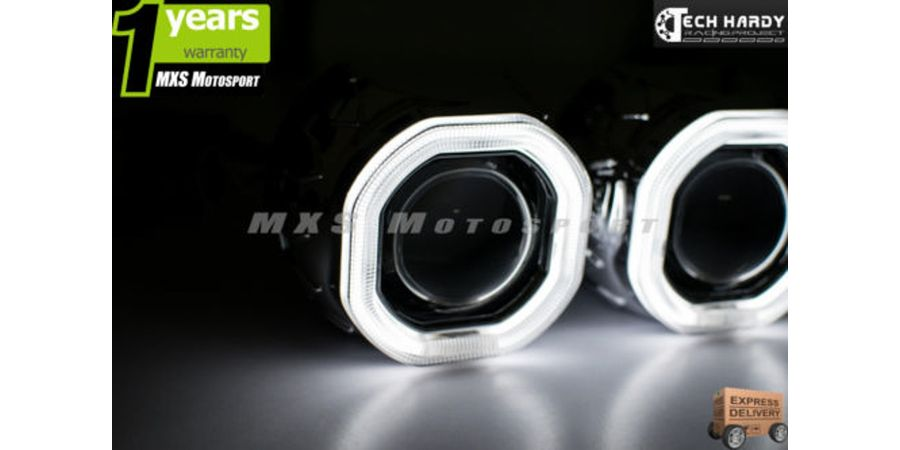 MXS921 Chevrolet Spark Headlight HID BI-XENON HALO Ring Square Projector