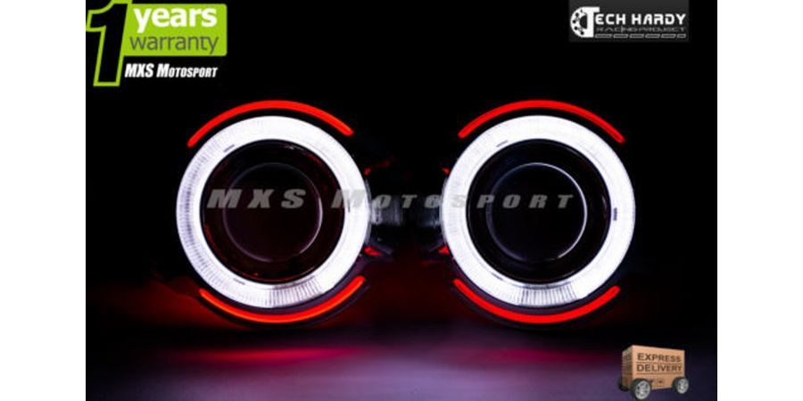 Toyota Etios Headlights HID BI-XENON Projector Ballast Shark & Angel Eye