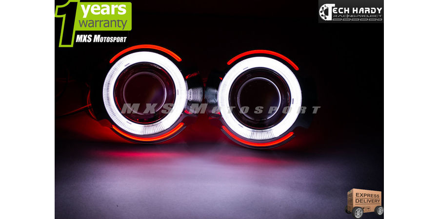 MXS967 Hyundai  i10 Headlights HID BI-XENON Projector Ballast Shark & Angel Eye