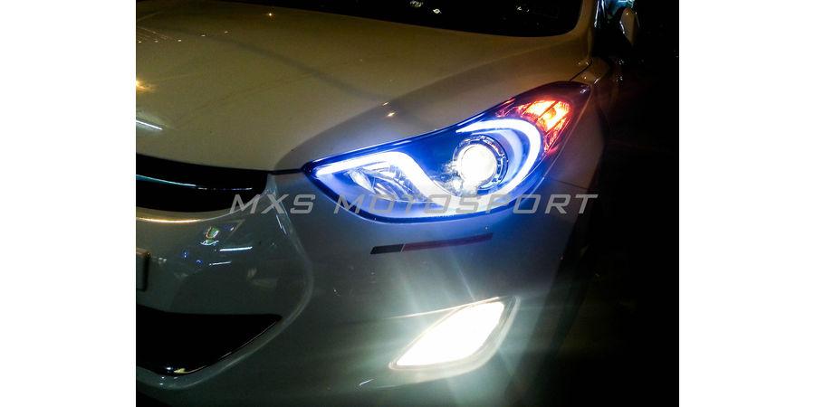 MXSHL13 Hyundai Elantra Headlights Bi Xenon projector & DRL