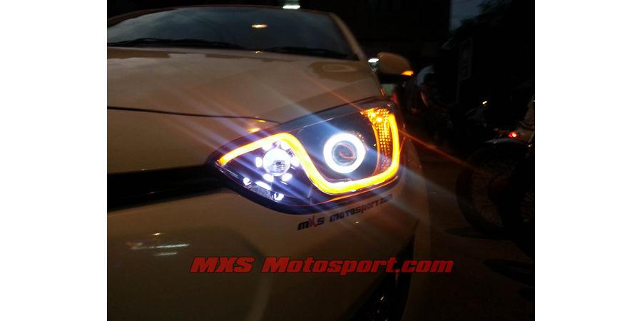 MXSHL15 Hyundai I20 Headlights Bi Xenon projector DRL & turn signal Indicator
