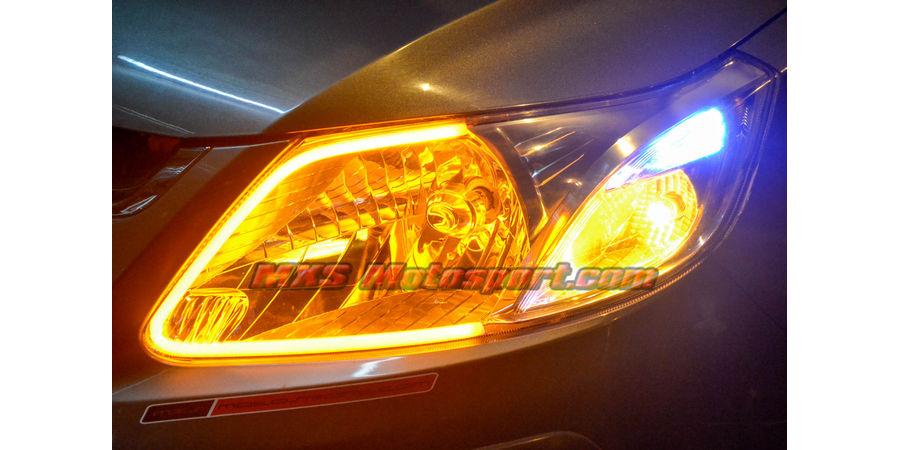 MXS2466 Audi-Style White-Amber DRL Daytime Running Light for Chevrolet Sail