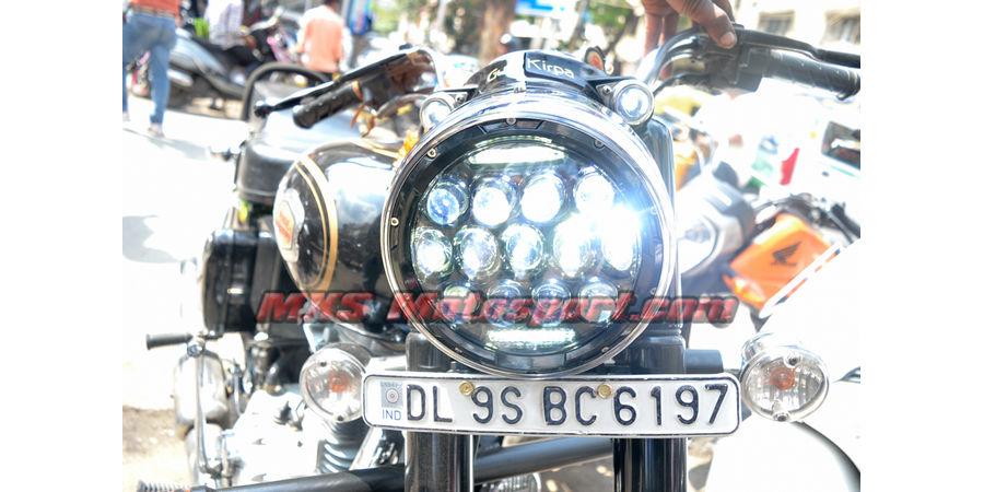 MXSHL182 LED Monster Projector Headlight Royal Enfield Bullet