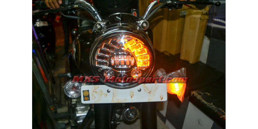 MXSHL425 Tech Hardy Stage  2 Led Adaptive Headlight Royal Enfield Bullet 350 & 500  Motorcycle