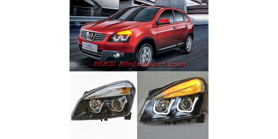 MXSHL437 Projector Headlights With Day Time Running Light Nissan Qashqai 2008-2013