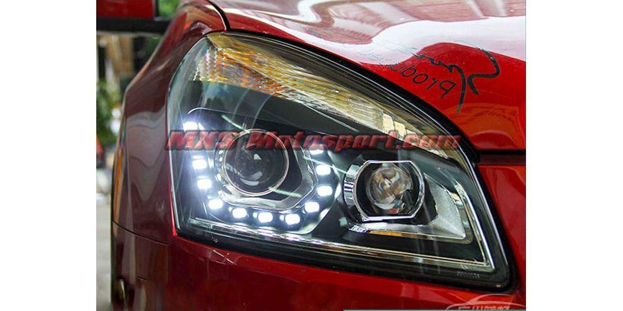 MXSHL438 Projector Headlights With Day Time Running Light Nissan Qashqai