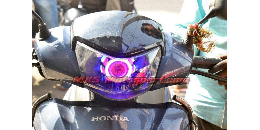 MXSHL490 Led Projector Headlight with Angel Eye For Honda Activa