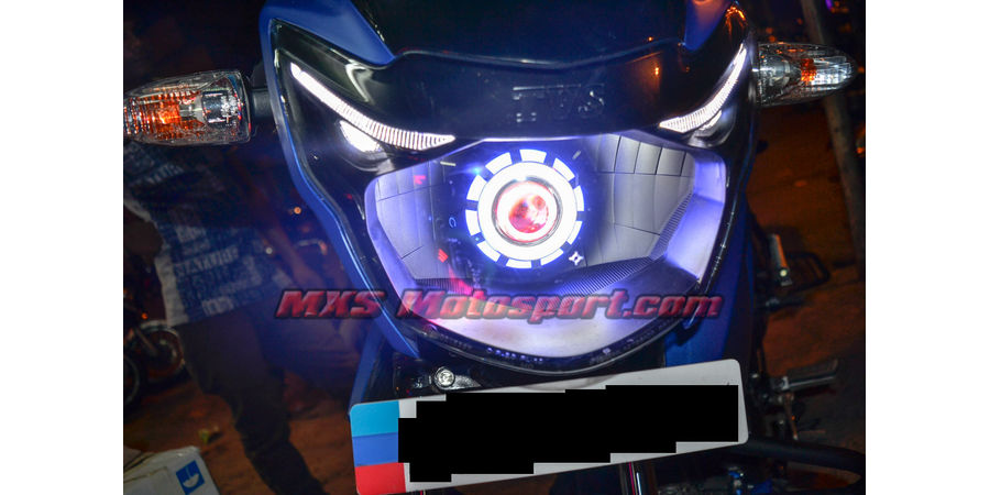 MXSHL495 Led Robotic Eye Projector Headlight Tvs Apache rtr new version