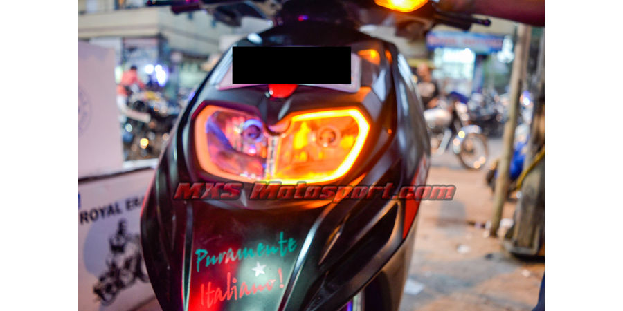 MXSHL496 Led Headlight with Daytime Running Light Aprilia SR 150